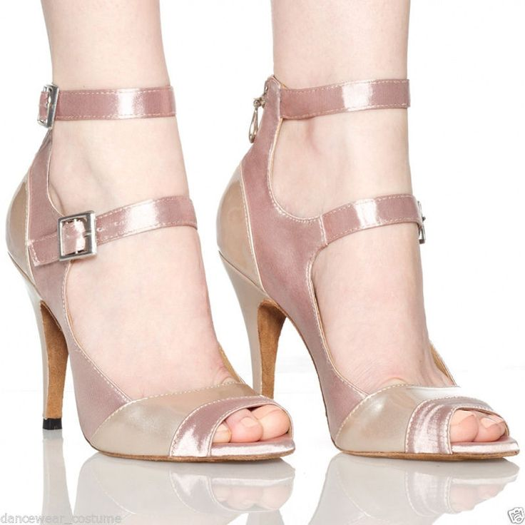 New Women's Rumba Tango Latin Salsa Ballroom Dance Heeled Shoes 7.5cm heels US 6