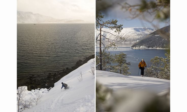 Norway. Cant bet the feeling of skiing perfect snow with the open water as background