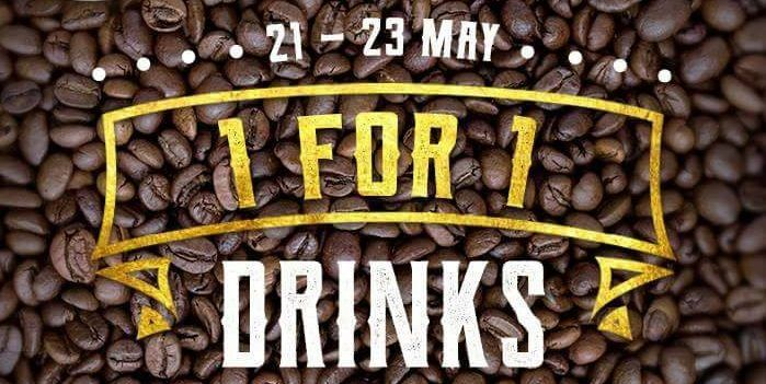 Jewel Coffee Singapore 1 For 1 Drinks 3pm Till Closing From 21 23 May 2018 Drinks Drink Offering 21st