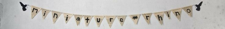 mini bunting made from book pages    #MiniatureRhino