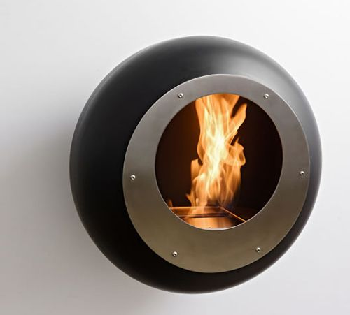 round wall fireplace from cocoon fires