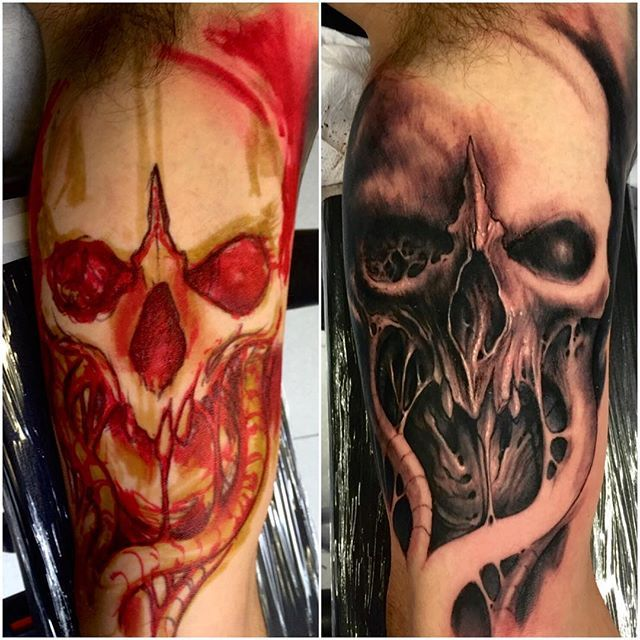 WEBSTA @ cattivostefanofabretti - Today start this brutal skull #zumacartucce…