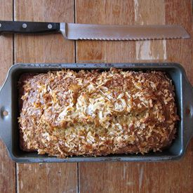 Coconut banana bread...delicious and healthy, not to mention banana and coconut are a match made in heaven!-- try with GF all purpose