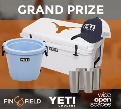 Enter the @finandfield Giveaway for a chance to win a YETI!