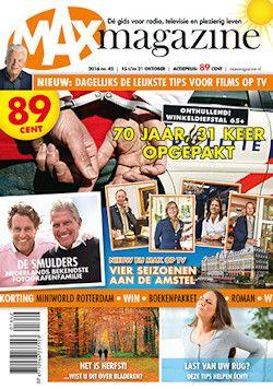 Proefabonnement: 12x Max Magazine € 10,-: Neem Max Magazine, het omroepblad van Omroep Max, nu 12 weken vrijblijvend op proef. Het abonnement stopt automatisch!