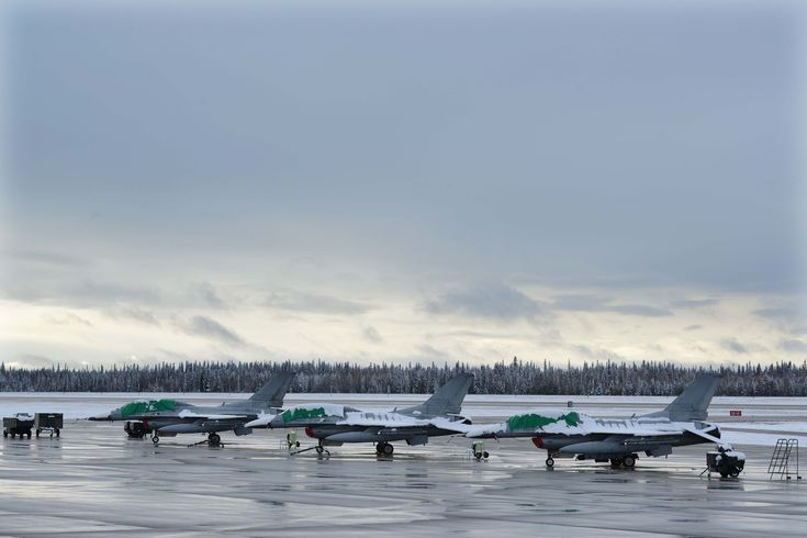 2014 Red Flag Alaska with KF-16. Stationed at Eielson AFB, full of snow.