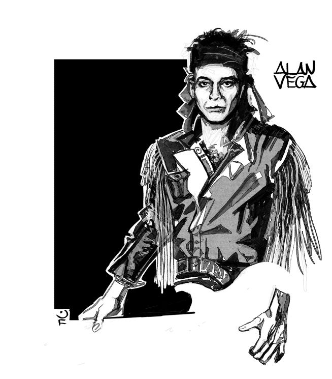 Alan Vega by Jonathan Fara.