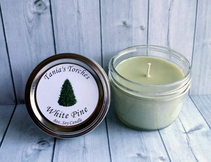 Christmas Tree Scented Candle for the Home Pine Aroma Soy wax Candles  / Phthalate Free Hand Poured Candle by TaniasTorches on Etsy