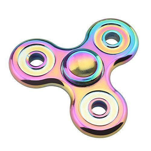 Fidget Spinner Rainbow Colorful Stress Anxiety Reducer High Speed 5 Minutes NEW #FidgetSpinnerRainbow