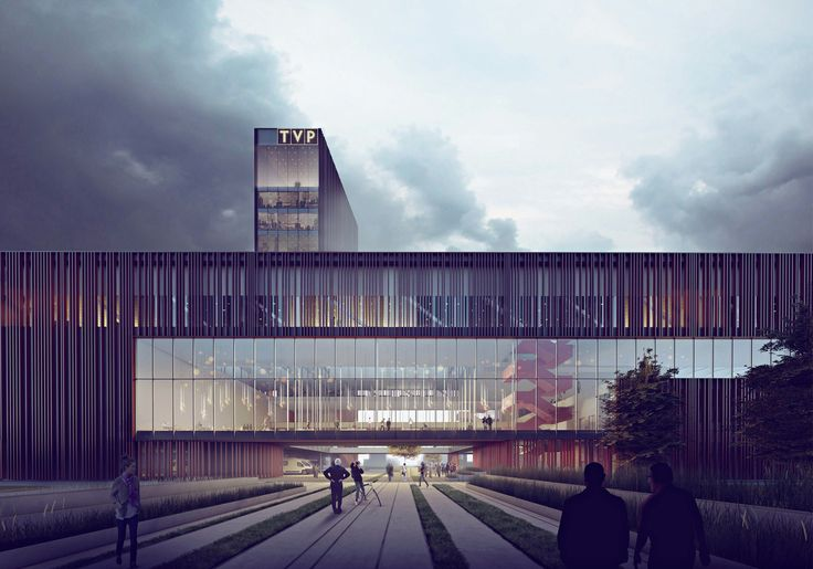 Maka-Sojka Architects Design Polish Public Television Headquarters in Warsaw,Courtesy of Maka-Sojka Architects
