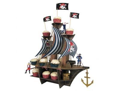 Meri Meri cupcake houder voor echte piraten. Top voor stoere jongensfeestjes.