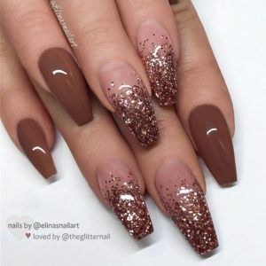 herbst nägel in 2020 with images  brown nails long