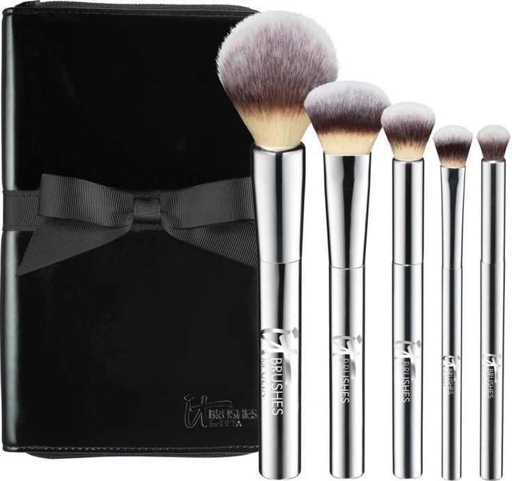 ULTA Exclusive! IT Brushes by ULTA Your Beautiful Basics Airbrush 101 5 Pc Getting Started Brush Set includes Airbrush Powder, Airbrush Foundation, Airbrush Concealer, Airbrush Shadow and Airbrush Crease brushes. A $130 value!.