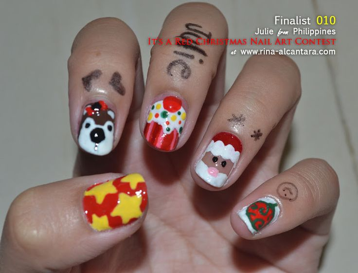 192 best christmas nail art images on pinterest nail art ideas its a red christmas nail art contest entry check out mynailpolishobsession for prinsesfo Images