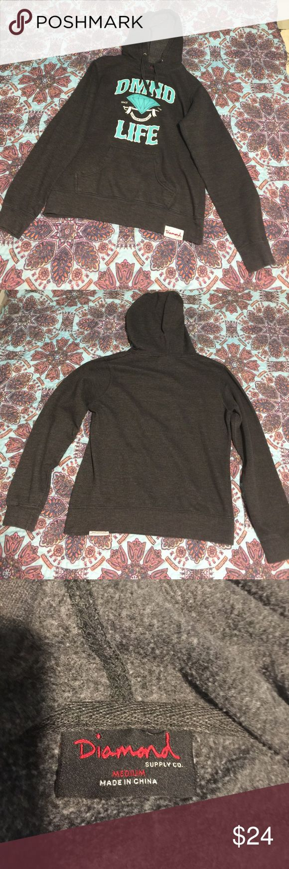 Diamond supply company sweater hoodie Gently lick used hoodie sweater Diamond Supply Co. Sweaters
