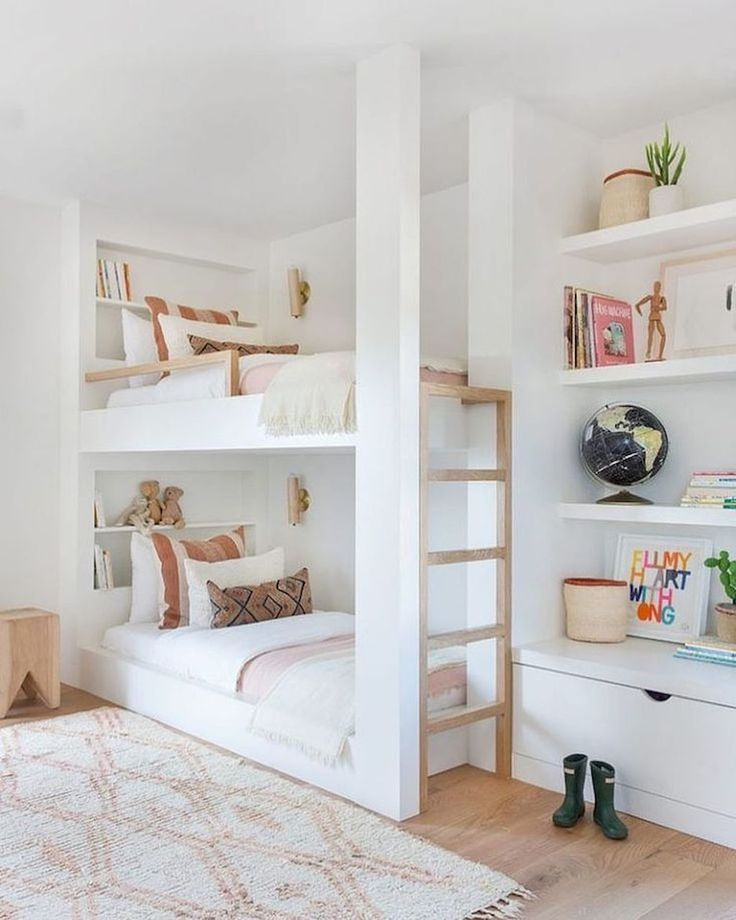 Children Bedroom Ideas To Enjoy Their Childhood Days Home To Z Bunk Beds Built In Bunk Bed Designs Girl Room