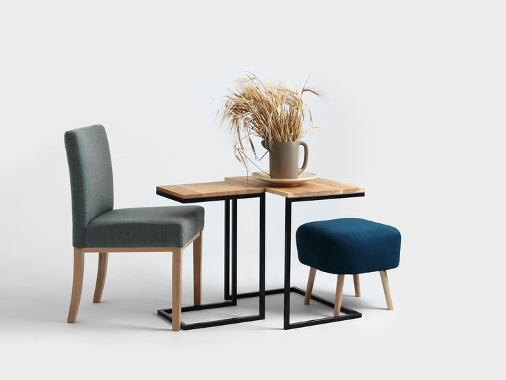 Minimal table and chair.