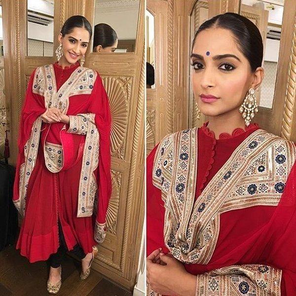 Ravishing in Red: Sonam Kapoor Turns Heads With This Look!   PINKVILLA