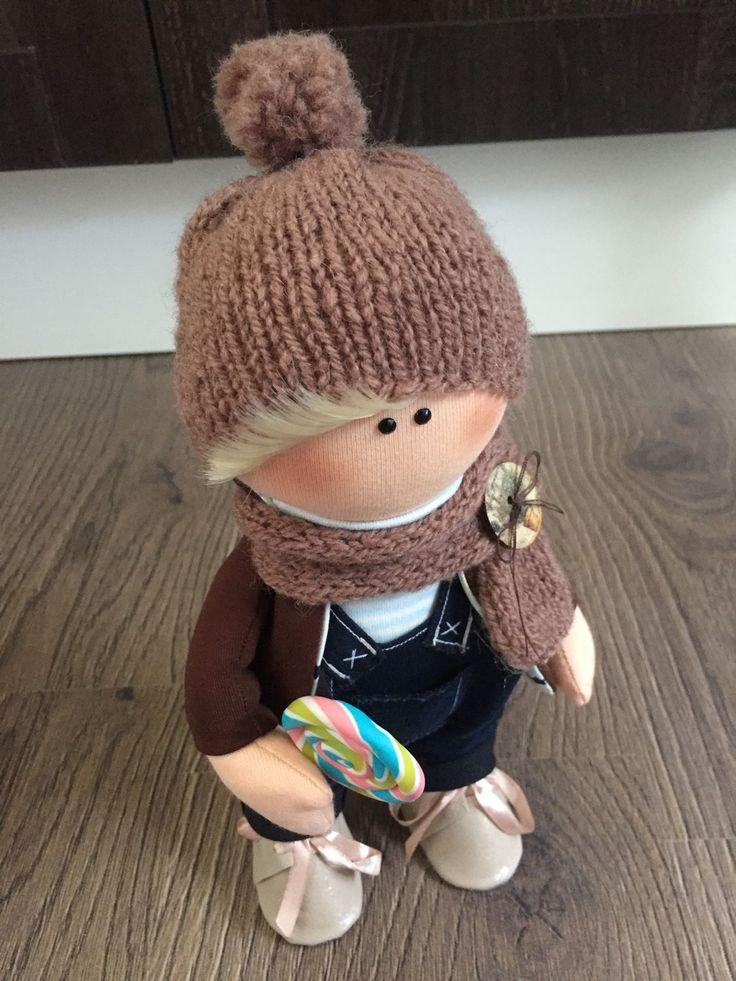 Купить Кукла текстильная Сёма - интерьерная кукла, большеножка, Большеголовка, кукла ручной работы