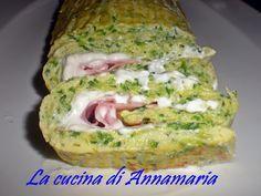 Rotolo di zucchine con prosciutto e robiola, ricetta golosa I AM SO GOING TO MAKE THIS!,