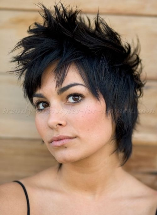 short funky hairstyles for women | faux hawk hairstyle for women