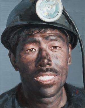 2011 MIGRANT WORKER -- by artist Xu Weixin (b1958, Urumqi, Xinijiang Proovince, China)