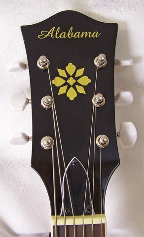 "Also known as the ""banjitar"" the Alabama 6 String Banjo gives you all the sound and glory of a banjo with a 6 string guitar neck.  Play all the same shapes, licks, and tricks you know on guitar with that bright, punchy banjo sound.: String Guitar, Banjo Sound, Punchy Banjo, Play, String Banjo, Shape, Guitar Neck"