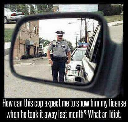 Funny picture. Police jokes. Cop memes