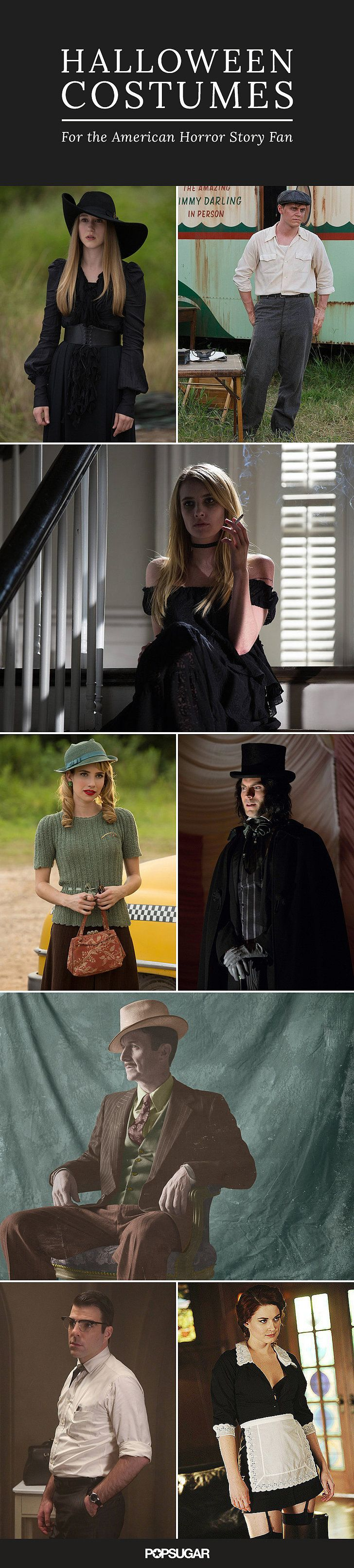 Over 40 American Horror Story Characters to Be This Halloween. They left a few out... Tate and Violet would be precious!