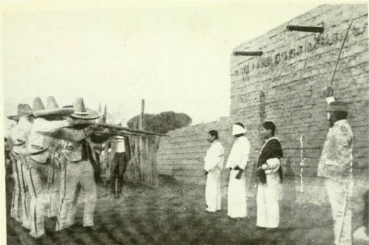 The Mexican Firing squad. The Mexican revolution was a savage and bloody time in Mexican history.