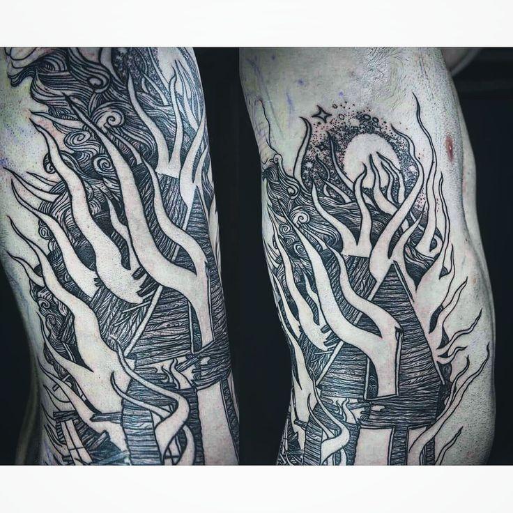 Tattoo by Noel'le Longhaul at Charon Art in Montague, MA, USA. www.noellelonghaul.com Social: @laughingloone