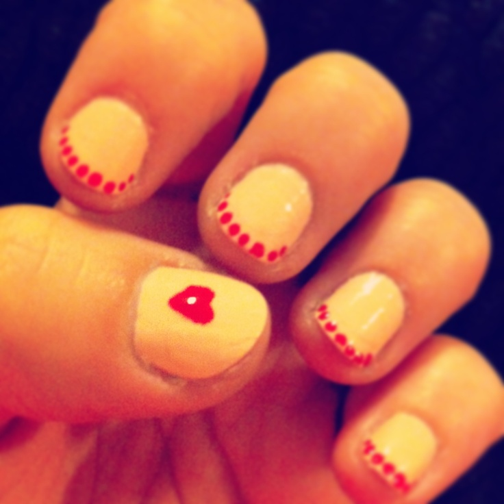 valentine's day red nails