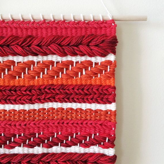Monochromatic Weaving Woven Wall Hanging by UnrulyEdges on Etsy