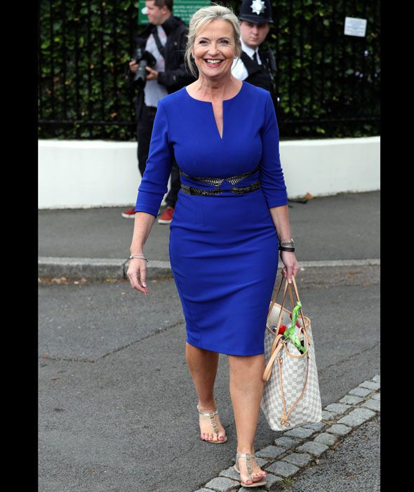 Carol Kirkwood seen at Wimbledon