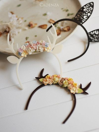 How about a woodland creature party??? These are fun. headbands DIY