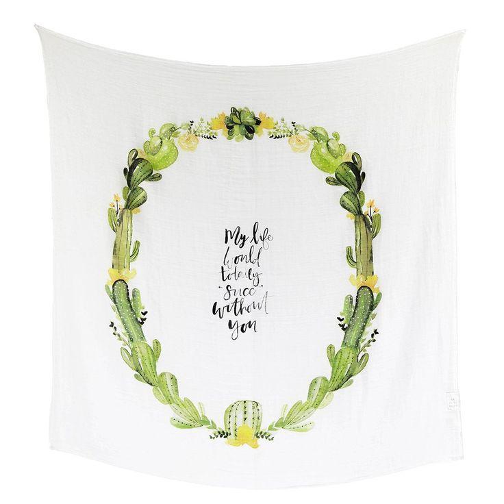 Desert Cactus - Organic Swaddle Blanket