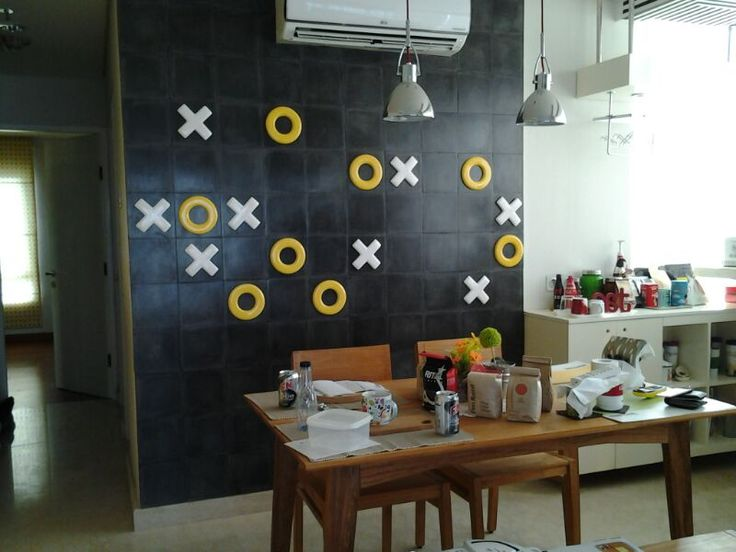 Tic Tac Toe decoration in the dining room at Permata Hijau Residence Apartment