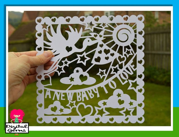 A New Baby To Love Papercut Template, SVG Cutting File For Cricut Design Space…