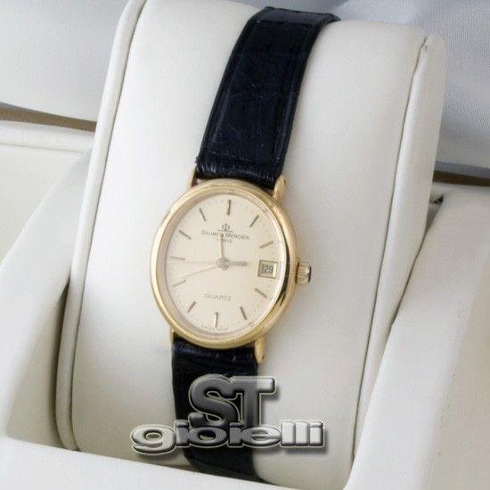 Orologio Baume & Mercier in Oro 18kt con Cinturino in pelle r1226745 - ST-Commerce