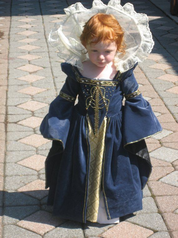 Tudor darling. A minature Queen Elizabeth I, King Henry VIII's daughter by Anne Boelyn --  both redheads!  If i had a ginger babe I would totally do this.