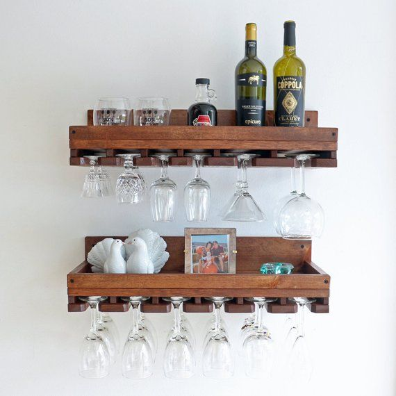 10 Deep Rustic Wine Rack Shelves Wall Mounted Shelf Etsy Wine Rack Shelf Rustic Wine Racks Wine Rack