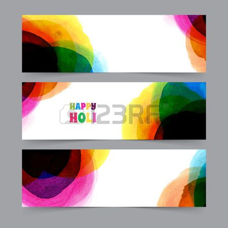 Vector illustration of Happy Holi card template Stock Vector