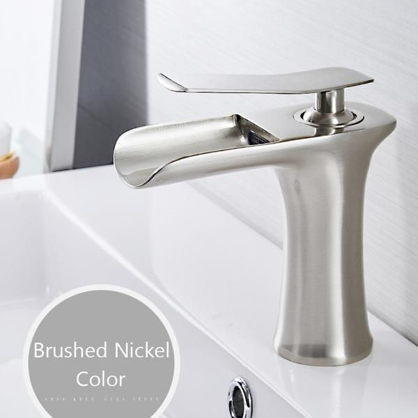 Waterfall Single Handle Basin Faucet Warmly With Images