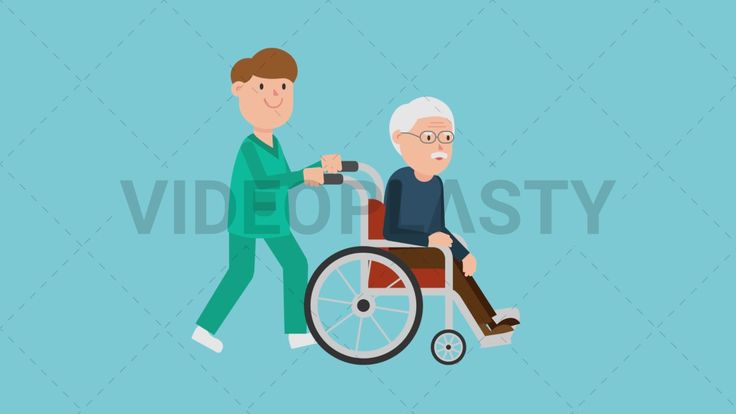 Download: http://ift.tt/2sZbVFj  A male nurse in green scrubs is pushing a patient in a metallic wheelchair with red leather. The patient is an old man with brown pants blue sweater gray hair and eyeglasses.  Two version are included: normal (with a start animation) and loopable. The normal version can be extended with the loopable version  Clip Length:10 seconds Loopable: Yes Alpha Channel: Yes Resolution:FullHD Format: Quicktime MOV  For more royalty free video assets visit…