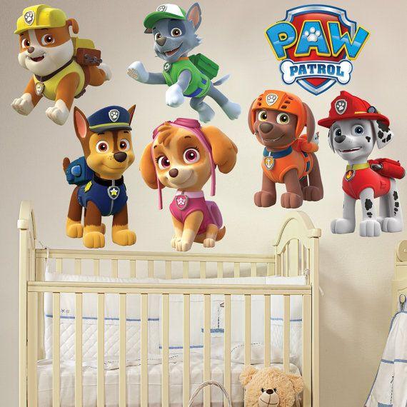 PAW PATROL Kids Boy Girls Bedroom Decal Wall by HappyDecalWorld