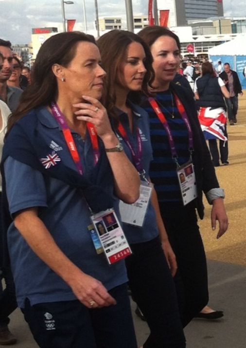 Kate PPOs Olympics Day Nine 9 August 5, 2012 Blue Team GB Polo..whatkatewore.com