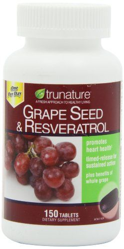 Product review for TruNature Grape Seed & Resveratrol - 150 Tablets -  Reviews of TruNature Grape Seed & Resveratrol – 150 Tablets. Buy TruNature Grape Seed & Resveratrol – 150 Tablets on ✓ FREE SHIPPING on qualified orders. Buy online at BestsellerOutlets Products Reviews website.  -  http://www.bestselleroutlet.net/product-review-for-trunature-grape-seed-resveratrol-150-tablets/