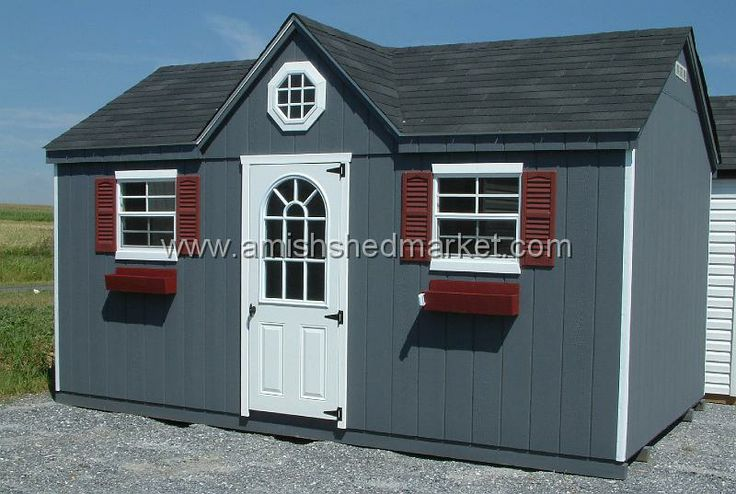 Picture Of Red Shed With Black Door Victorian Shed Black