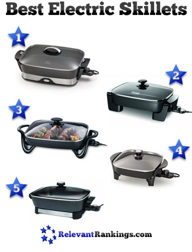 Reviews of the top 5 best electric skillets as rated by relevantrankings.com. See more at http://www.relevantrankings.com/5-best-electric-skillets/