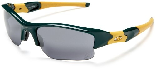 black and yellow oakley sunglasses  oakley men's flak jacket xlj oakland athletics sunglasses,green and yellow frame/black lens,one size $128.77